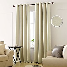 Deconovo Blackout Curtain Eyelets Opaque Bedroom,