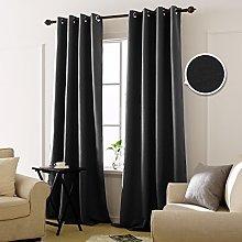 Deconovo Blackout Curtain Eyelets Opaque Bedroom,