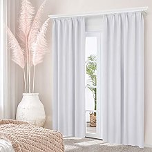 Deconovo Blackout Curtain with Ruffle Tape Opaque