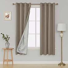 Deconovo Blackout Curtains Thermal Insulated