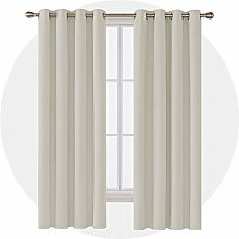 Deconovo Curtain Opaque Living Room Cream 183 x