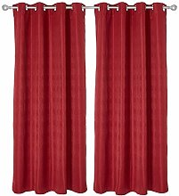 Deconovo Eyelet Curtain Blackout Curtains Opaque