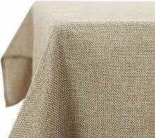 Deconovo Faux Linen Rectangle Tablecloth Water