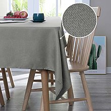 Deconovo Faux Linen Table Cloth Wipeable Table