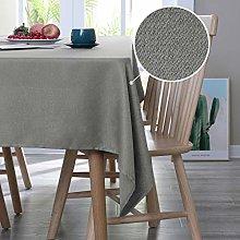Deconovo Faux Linen Table Cloth Wipeable Table