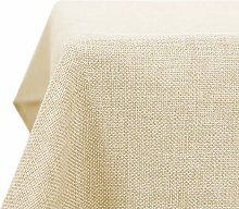 Deconovo Faux Linen Table Cover Rectangle Table
