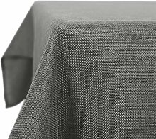 Deconovo Faux Linen Table Cover Rectangle Water