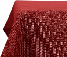 Deconovo Faux Linen Table Cover Water Resistant