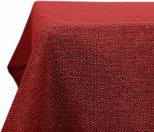 Deconovo Faux Linen Table Cover Water Resistant