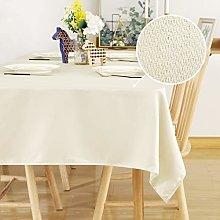 Deconovo Faux Linen Table Covers Outdoor Table