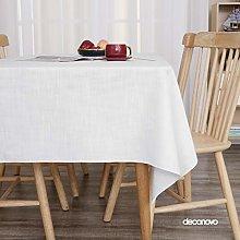 Deconovo Faux Linen Tablecloth Protector