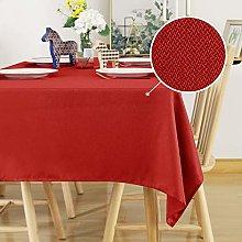 Deconovo Faux Linen Tablecloth Water Resisitant