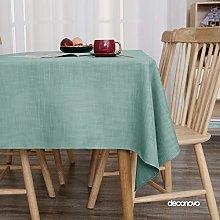 Deconovo Faux Linen Tablecloth Water Resistant