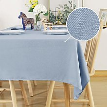 Deconovo Faux Linen Tablecloth Water Resistant