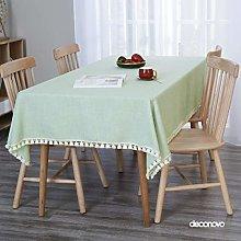 Deconovo Faux Linen Tablecloth Wipeable Tablecloth