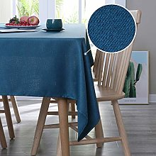 Deconovo Faux Linen Water Resistant Tablecloth
