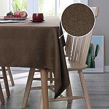 Deconovo Faux Linen Wipeable Table Cloth Square