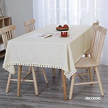 Deconovo Faux Linen Wipeable Tablecloth