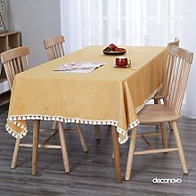 Deconovo Faux Linen Wipeable Tablecloth Water