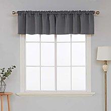 Deconovo Grey Curtain Valances for Window Kitchen