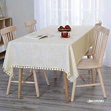 Deconovo Home Decorative Faux Linen Tablecloth