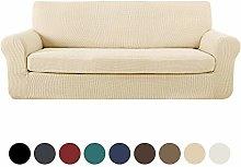 Deconovo Jacquard Sofa Cover 2-Piece Stretch