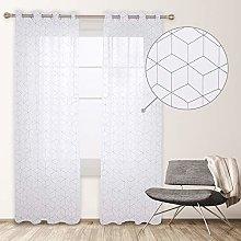 Deconovo Modern Translucent Net Curtain with