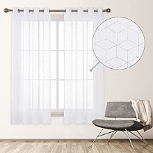 Deconovo Net Curtain with Eyelets Indoor Window