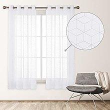 Deconovo Net Curtain with Eyelets Indoor Window