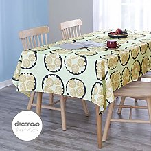 Deconovo Oxford Fabric Tablecloth with Cookies