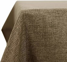 Deconovo Rectangle Faux Linen Table Cloth Water