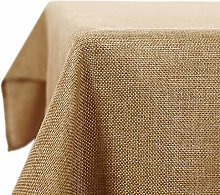 Deconovo Rectangle Tablecloth Faux Linen Water