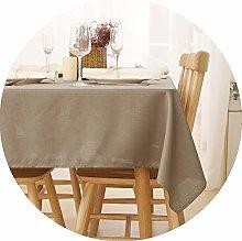 Deconovo Rectangular Faux Linen Tablecloth