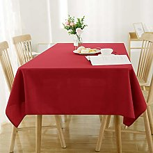 Deconovo Red Water Resistant Table Cloth Party