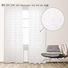 Deconovo Soft Translucent Net Curtain with Eyelets