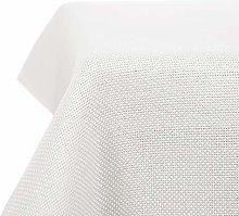 Deconovo Solid Faux Linen Rectangle Tablecloth