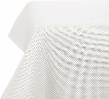 Deconovo Solid Faux Linen Rectangle Tablecloth