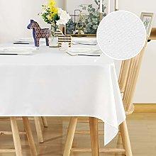 Deconovo Super Soft Faux Linen Tablecloth Water