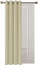 """Deconovo Thermal Insulated Blackout Curtain Nursery Curtain Eyelet Curtain for Bedroom 52""""x 72"""" Beige 1 PANEL"""
