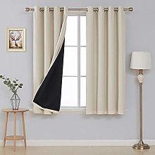 Deconovo Total Blackout Curtain Panel Faux Linen