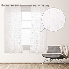 Deconovo Translucent Interior Window Curtain with