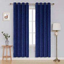 Deconovo Velvet Curtain Bedroom Eyelets Curtains