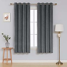 Deconovo Velvet Eyelet Curtain Living Room