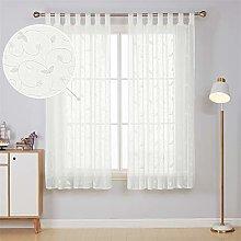 Deconovo Voile Tab Top Transparent Curtain Panel
