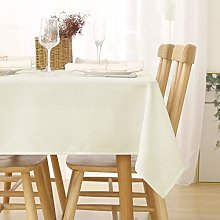 Deconovo Water Resistant Faux Linen Tablecloth