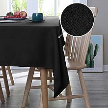 Deconovo Water Resistant Table Cloth Faux Linen