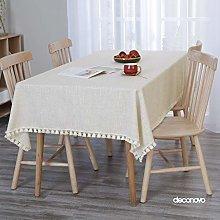 Deconovo Water Resistant Tablecloth Faux Linen