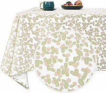 Deconovo Wipeable Table Cloth with Berries Pattern