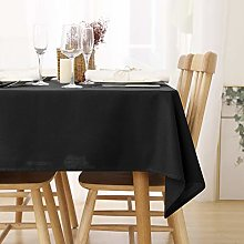 Deconovo Wipeable Tablecloth Faux Linen Tablecloth