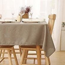 Deconovo Wipeable Tablecloth Rectangle Faux Linen